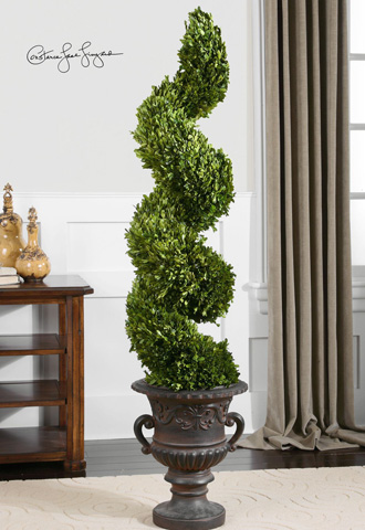 Uttermost Company - Preserved Boxwood Spiral Topiary - 60094