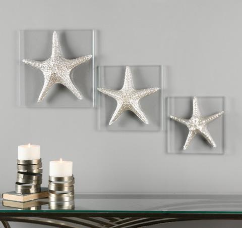 Uttermost Company - Silver Starfish Wall Decor - 01129