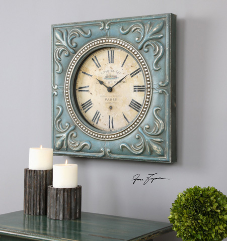 Uttermost Company - Canal St. Martin Wall Clock - 06422