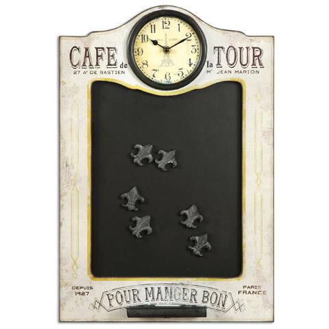 Uttermost Company - Cafe de la Tour Chalkboard and Clock - 13991