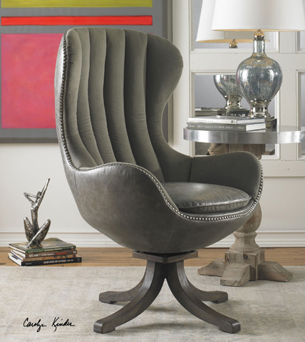 Uttermost Company - Linford Swivel Chair - 23121