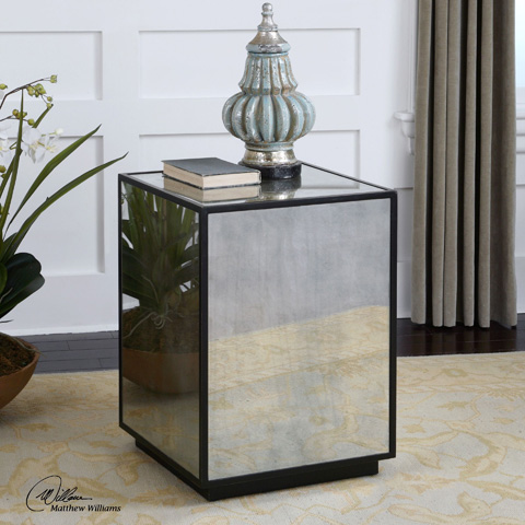 Uttermost Company - Matty Mirrored Side Table - 24383