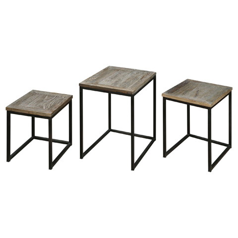 Uttermost Company - Bomani Nesting Tables-Set of Three - 24460