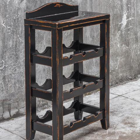 Uttermost Company - Halton Wine Rack Table - 25672