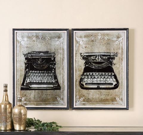 Uttermost Company - Classic Typewriters Art - 32536