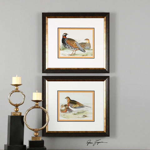 Uttermost Company - Pair Of Quail Art - 33612