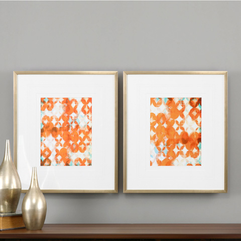 Uttermost Company - Overlapping Teal and Orange Art - 33616