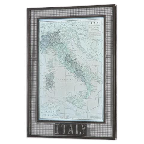 Uttermost Company - Italy Map Art - 55021
