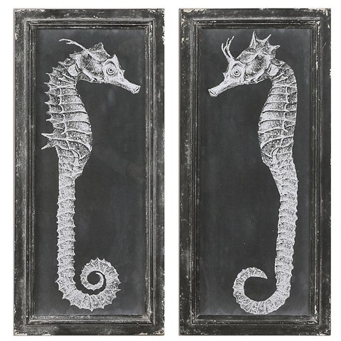 Uttermost Company - Seahorse Blueprints Art - 56062