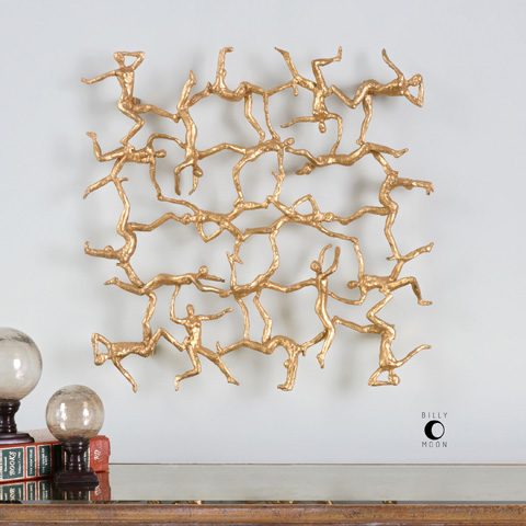 Uttermost Company - Golden Gymnasts Wall Decor - 04037