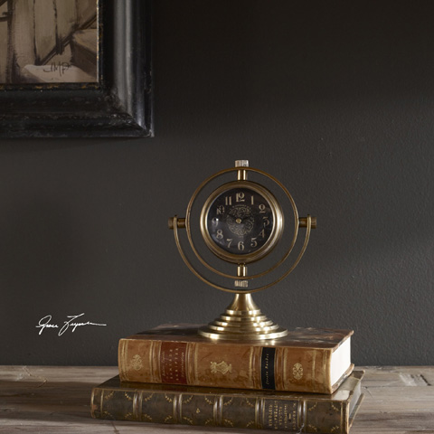Uttermost Company - Almonzo Table Clock - 06430