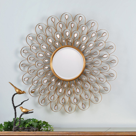 Uttermost Company - Golden Peacock Wall Mirror - 09056
