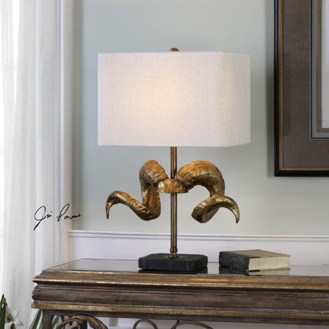 Uttermost Company - Golden Horns Table Lamp - 27171-1