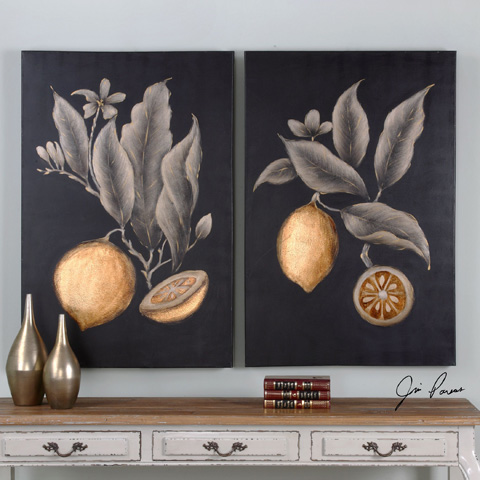 Uttermost Company - Citrus Study Art-Set of Two - 36109