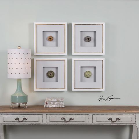Uttermost Company - Sea Urchins Art-Set of Four - 41550