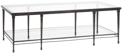 Vanguard Furniture - Hardin Cocktail Table with Glass Top - P426C-FB
