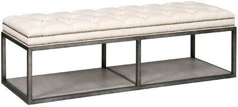 Vanguard Furniture - Wayland Thin Rectangular Metal Ottoman - W58TM