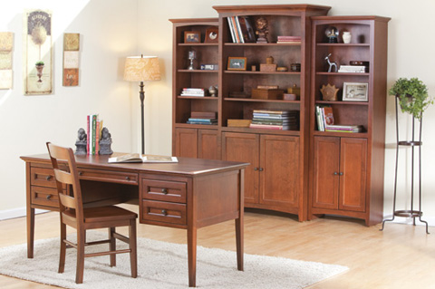 Whittier Wood Furniture - Center Wall Unit with Doors - 1611AEGAC