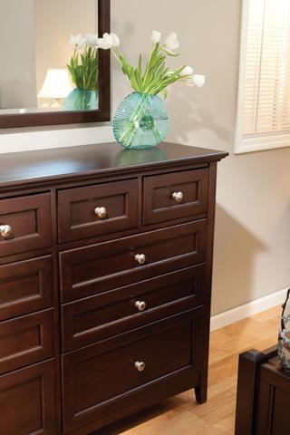 Whittier Wood Furniture - Ten Drawer McKenzie Dresser - 1128CAF