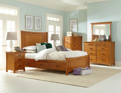 Whitter Wood Furniture - Three Drawer Prairie City Nightstand - 1203LSO