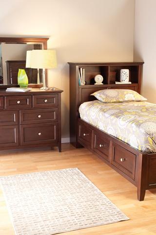 Whittier Wood Furniture - McKenzie Twin Bookcase Storage Bed - 1359CAF