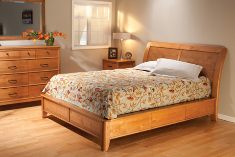 Whittier Wood Furniture - Pacific Queen Storage Bed - 1448GSP