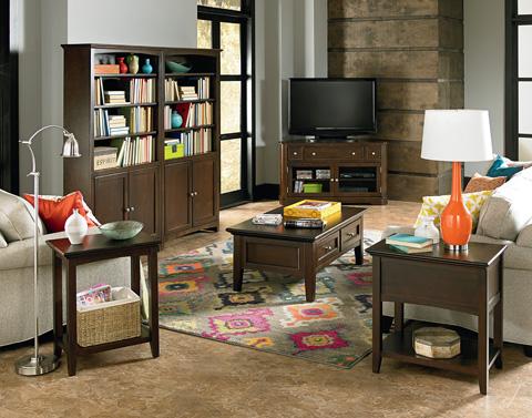 Whittier Wood Furniture - Corner Media Console - 2075CAF