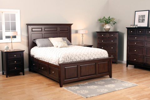 Whitter Wood Furniture - McKenzie Queen Mantel Storage Bed - 2316CAF