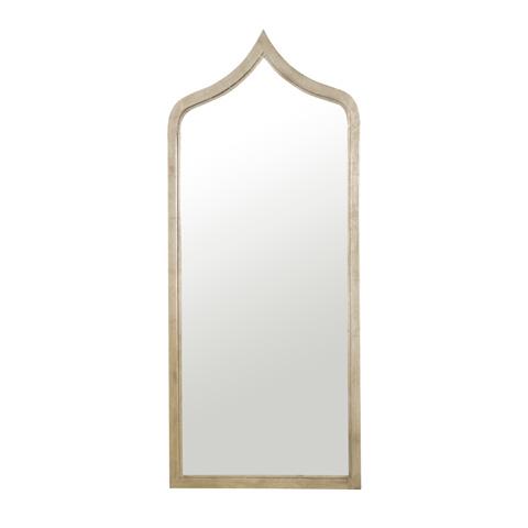 Worlds Away - Champagne Leaf Iron Moroccan Mirror - ADINA S