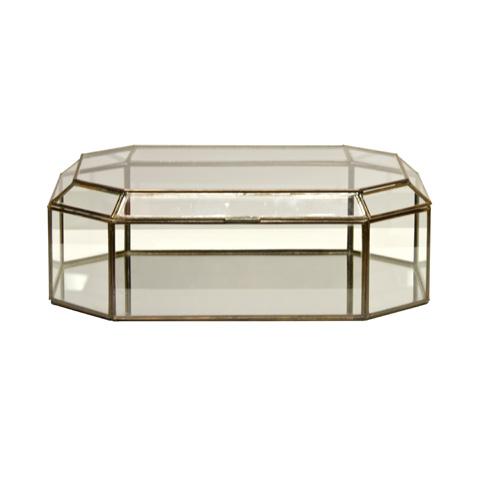 Worlds Away - Octagonal Clear Glass Box - BOX OCTCL