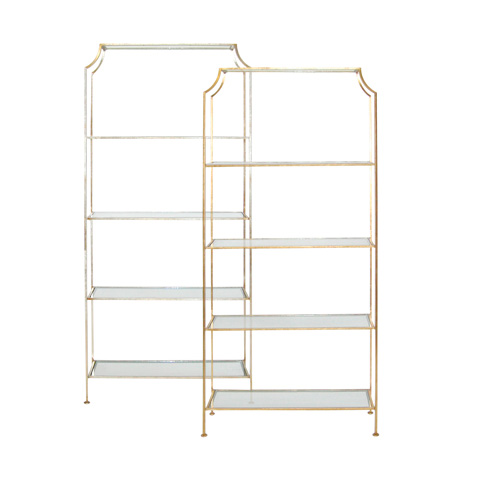 Worlds Away - Champagne Silver Leafed Etagere - CHLOE S