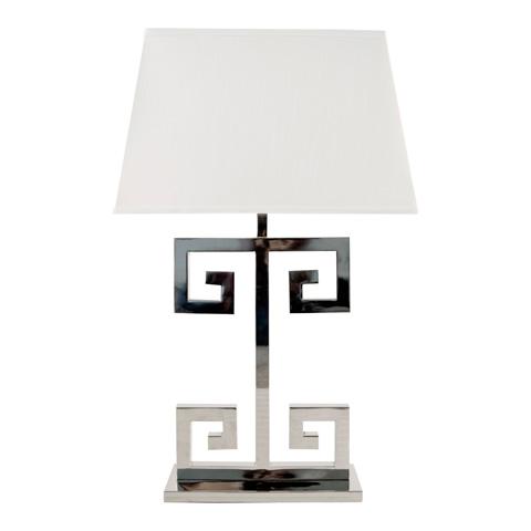 Worlds Away - Nickel Plated Greek Key Lamp - CLAYTON N