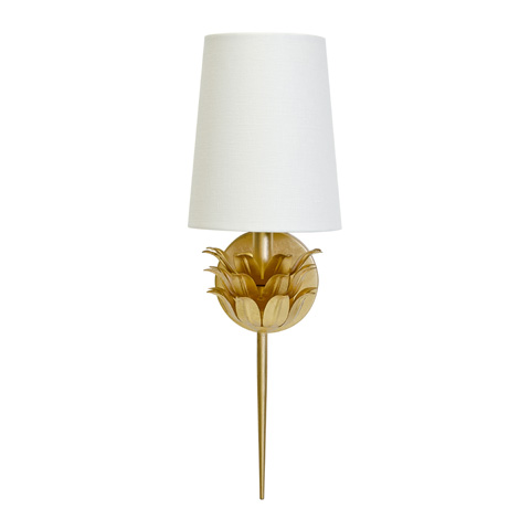 Image of Gold Leaf One Arm Sconce