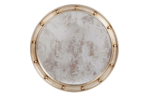 Worlds Away - Champagne Silver Leaf Federal Style Mirror - FEDERAL S