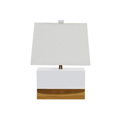 Worlds Away - White Rectangular Table Lamp - FOLEY WH