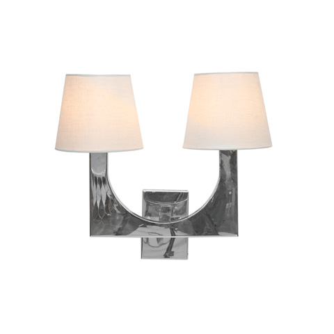 Worlds Away - Stainless Steel Two Arm Sconce - FRITZ SS