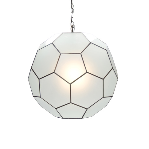Worlds Away - Large Frosted Glass Knox Pendant - KNOX FR
