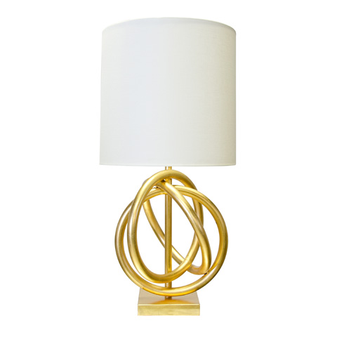 Worlds Away - Gold Leaf Table Lamp - NATHAN G