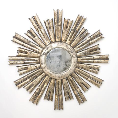 Worlds Away - Silver Leaf Starburst Mirror - RINALDO S