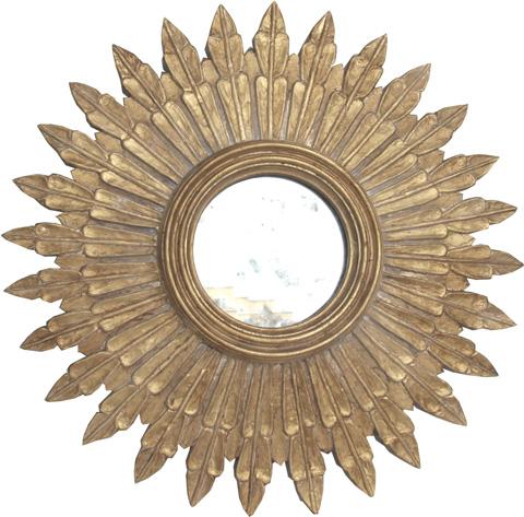 Worlds Away - Gold Leaf Starburst Mirror - SANTO G