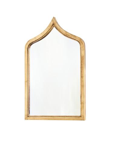 Worlds Away - Gold Leaf Iron Mirror - ZANZIBAR G