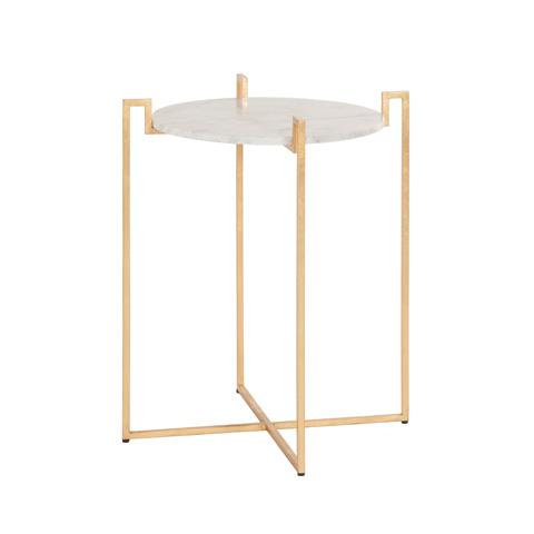 Worlds Away - Gold Leaf Side Table - ABEL G