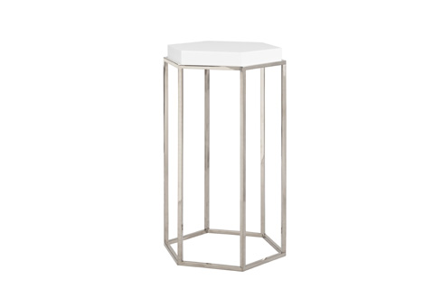 Worlds Away - Octagonal Occasional Table - ELSA WH