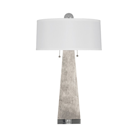 Worlds Away - Silver Leaf Table Lamp - JILL S