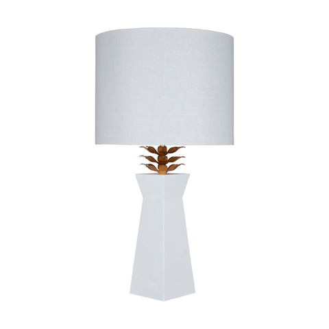 Worlds Away - White Lacquer Lamp - MORGAN WH