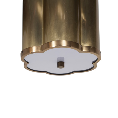 Worlds Away - Clover Pendant in Antique Brass with Diffuser - LINDSEY ABR