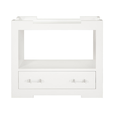 Worlds Away - Tray Top One Drawer Side Table - MONICA WH