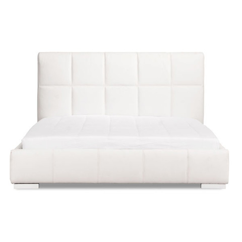 Zuo Modern Contemporary, Inc. - Amelie White Upholstered Platform Bed - 800201/800211