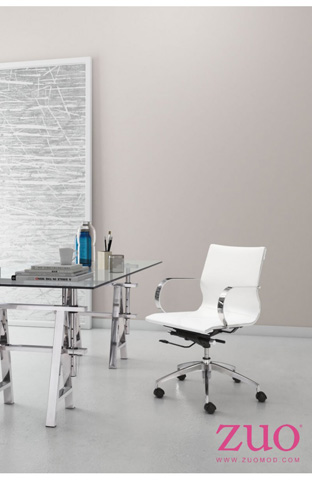 Zuo Modern Contemporary, Inc. - Glider Low Back Office Chair - 100375