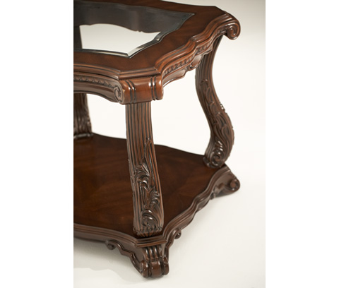 Michael Amini - Scroll Leg End Table - 02202-53